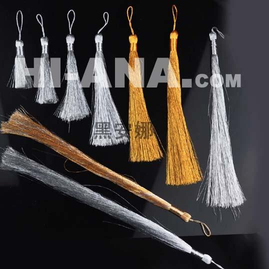 Metallic Yarn Tassel Fringe for Curtain