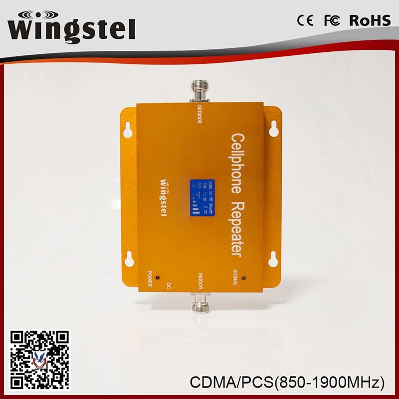 Dual Band CDMA/PCS 850/1900MHz Mobile Signal Repeater with LCD