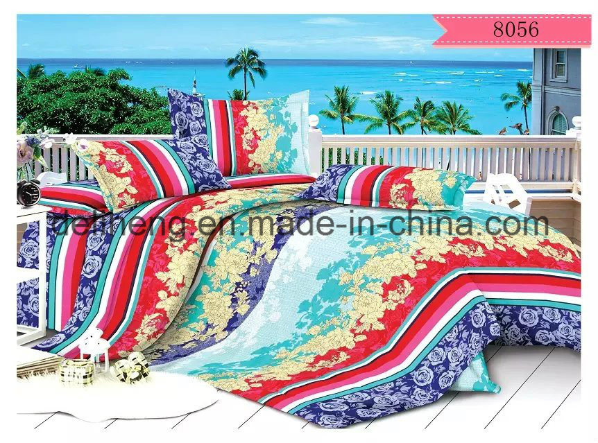 Twill Weaving 100% Polyester Velvet Bed Sheet Printed Fabric