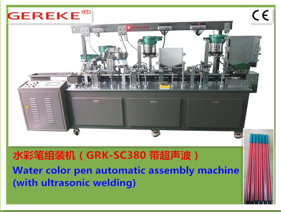 Water -Colour Pen (with ultrasonic) Automatic Assembly and Filling Machine