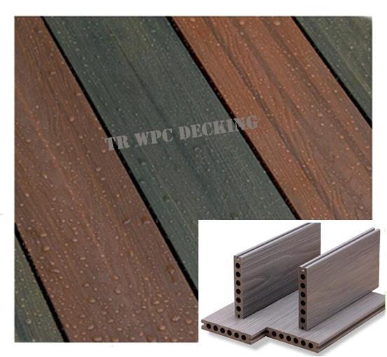 New Wood Plastic Composite Decking Flooring