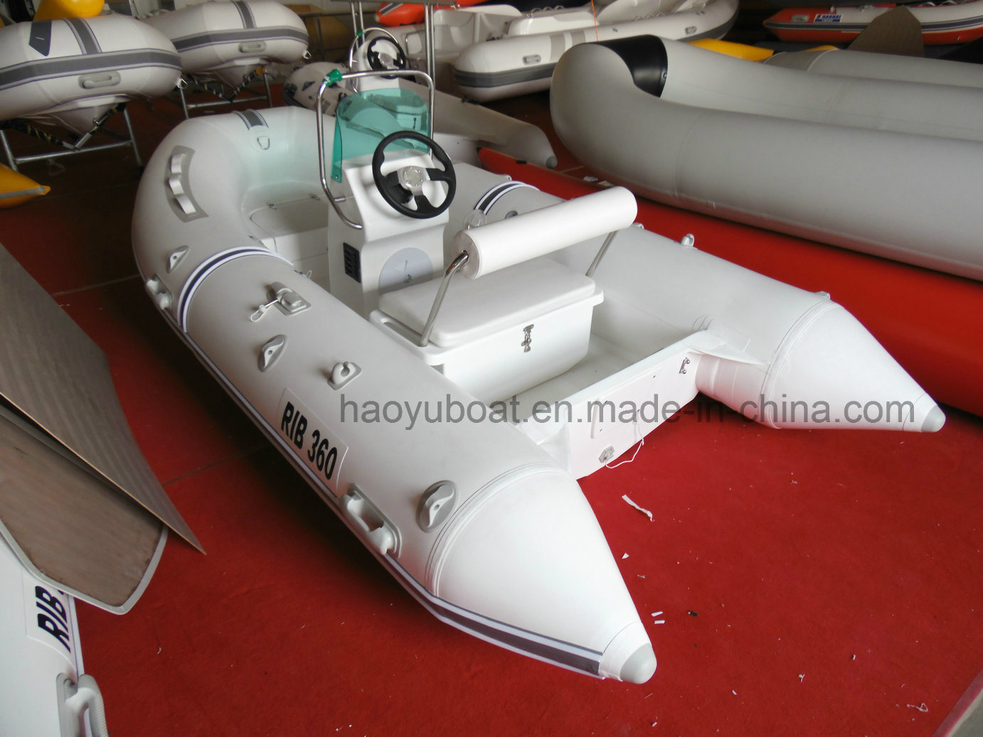 12ft Rib360b Recsue Boat with CE 3.6m Fiberglass Hul Rigidl Inflatable Boat
