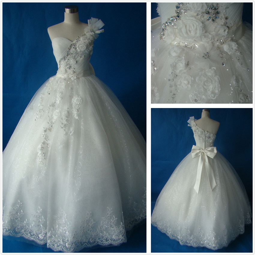 One Strap Wedding Dresses T10050 Photos Pictures