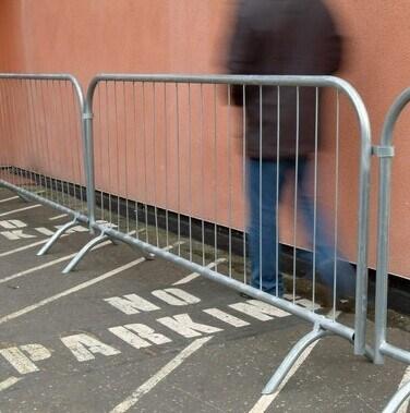 Galvanized Crowd Control Barrier, Pedestrian Barrier for Event
