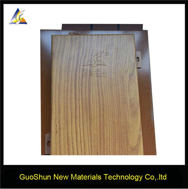 Decorative Wood Grain Building Materials Aluminum Panels