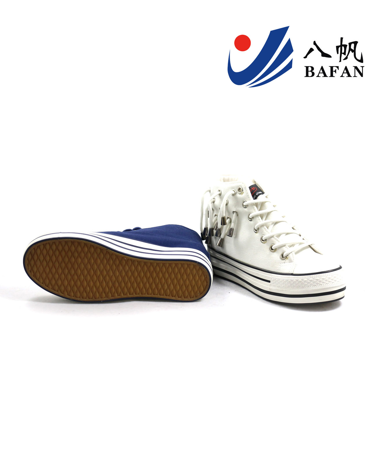2015 New Arrival Women High Top Vulcanization Canvas Shoes (BFM0297)