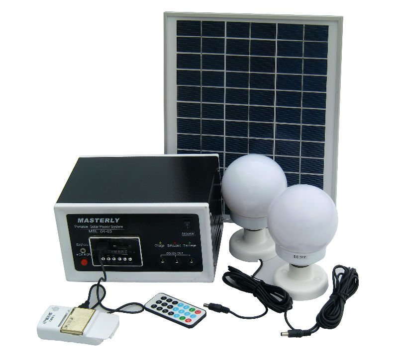 China Residential Solar Light System 10W LED with Radio ...