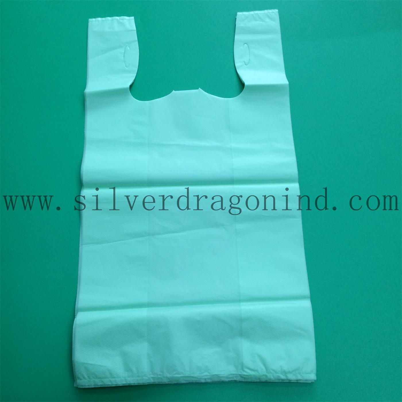 Compostable 60X40cm Cornstarch Plastic Carrier Bio Based Bag