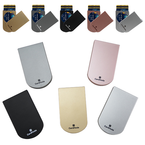 High Quality Plastic Card Holder with Card Protector Flip The Bar to Slide out