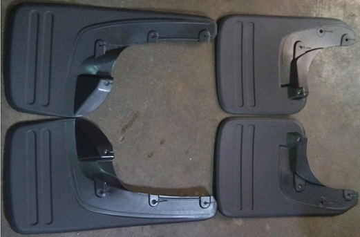 Rubber Automotive Mud Flaps Aftermarket for Toyota Hilux Vigo 2006 - 2012 MID-East Market