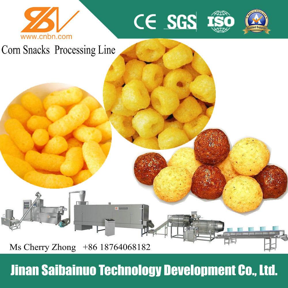 High Quality Corn Curls/Corn Snacks Processing Line