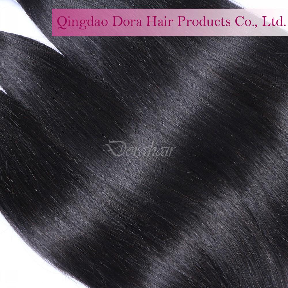 Top Quality Peruvian Human Hair Weft Natural Black Unprocessed Virgin Hair