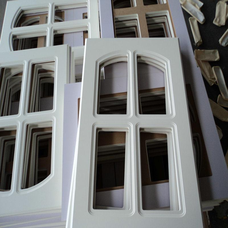 Europe PVC Vacuum Cabinet Door in Kitchen