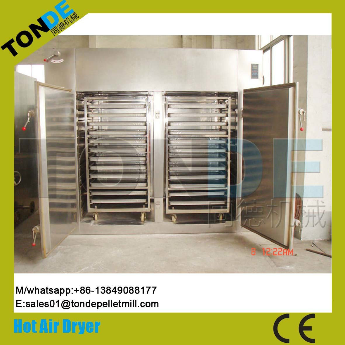 Industrial Stainless Steel Circulation Tea Herb Dryer Machine