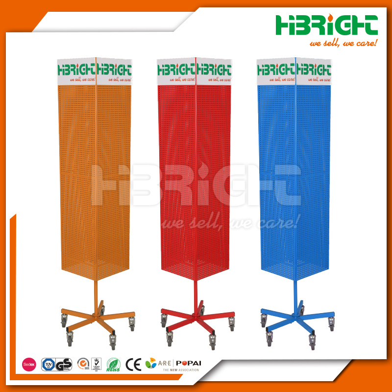 Powder Coating Metal Rotating Display Stand and Hangers