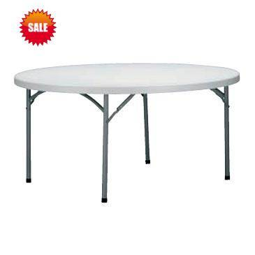 5ft Round Restaraunt Solid Plegable Folding Table