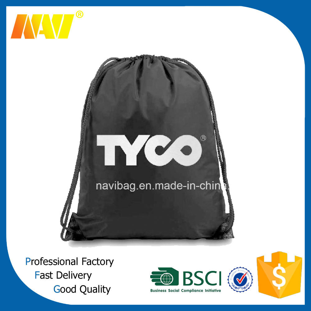 Cheap Polyester Promotional Drawstring Backpack Bag
