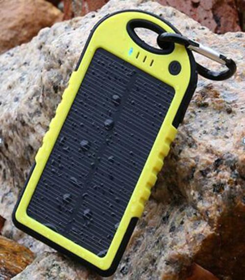 Waterproof Moile Solar Power Bank -5000mAh