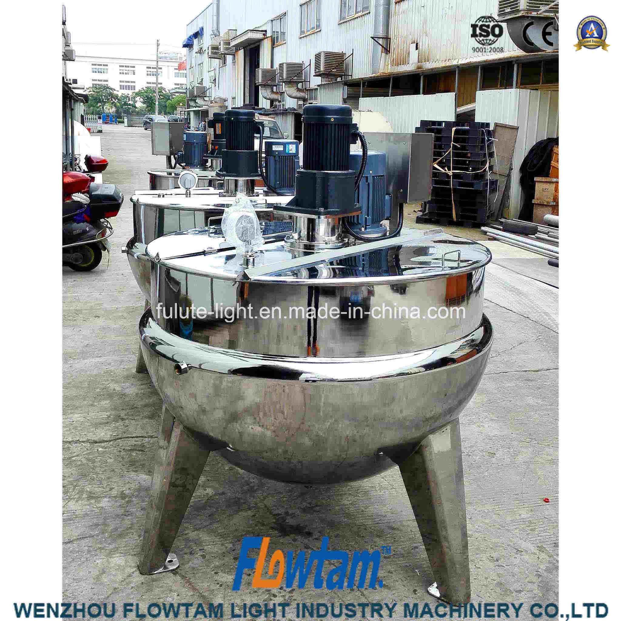 High Standard Double Jacketed Stainless Steel Tilting Electric Heating Kettle