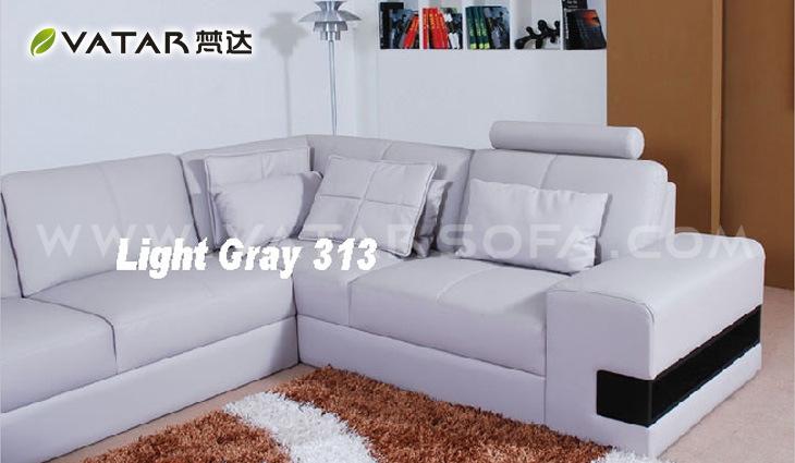 China Corner Sofa Live Leather Color Light Gray China