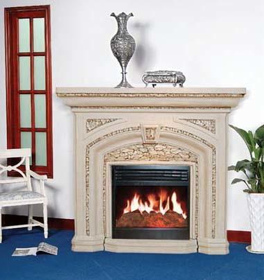 Electric Fireplace /Granite Fireplace (9048C)