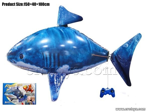 China air swimmer remote control inflatable flying shark for Remote control flying fish