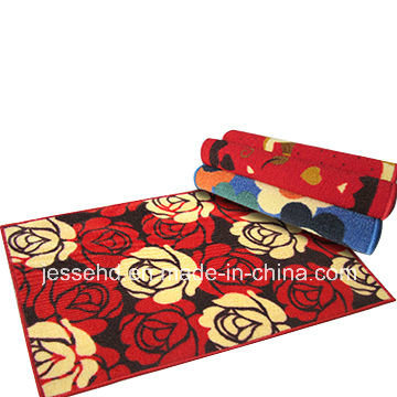 Comfortable Loop Pile Polyester Carpet Latex Backing Door Mat