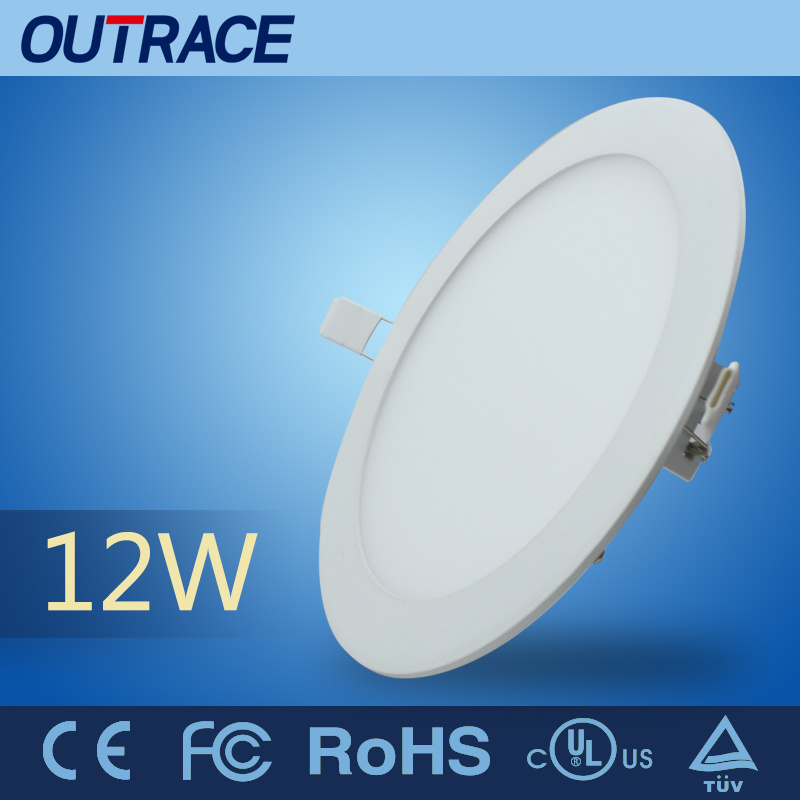 100-240VAC Circular Ultrathin Panel Light with 12W Power