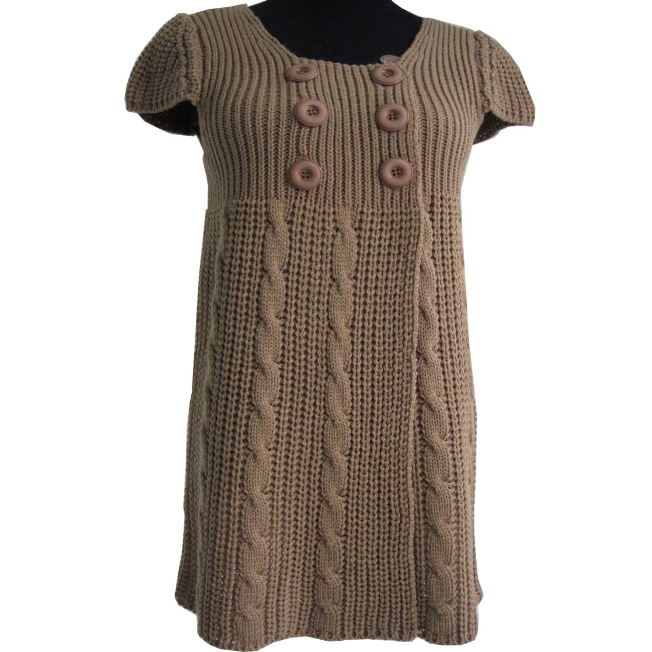 China Womens Cap Sleeve Knitting Sweater Dress - China Sweater, Pullover