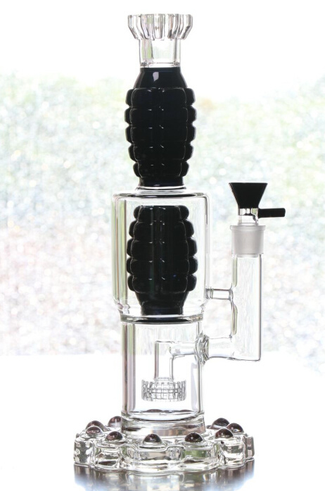 Thickened Glass Water Pipe Black White Oil Rigs Smoking Pipes