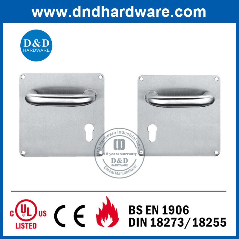 Door Hardware Lever Handle on Back Plate 170X170mm