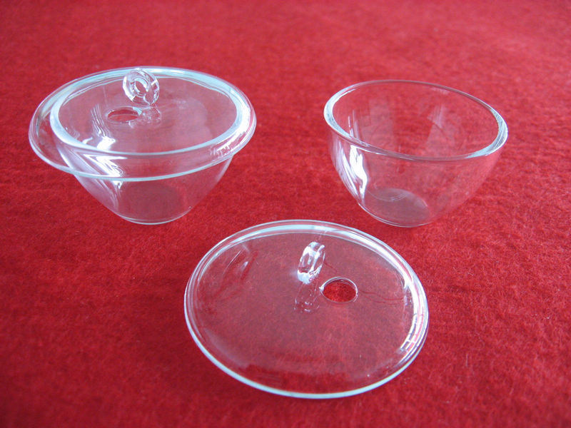 Transparent Silica Quartz Crucibles with Lid