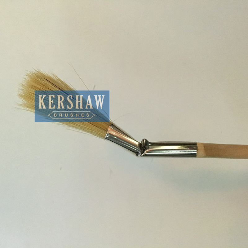 Radiator Brush (paint brush pure white pig bristle with long&short poplar handle, stainless steel ferrule)