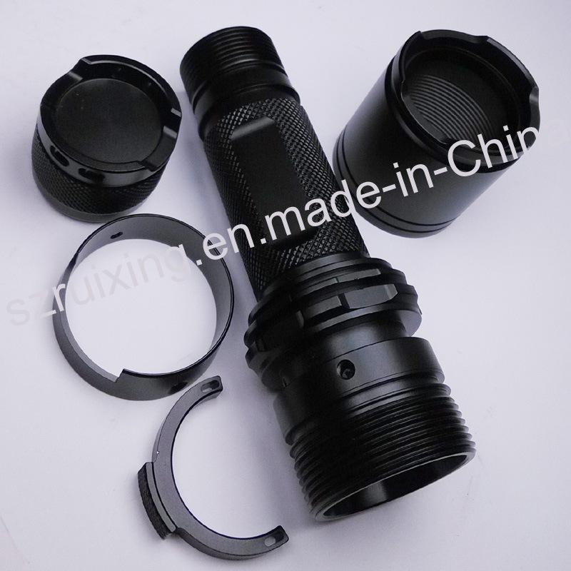 China Custom Made Machining for Aluminum Flashlight Part