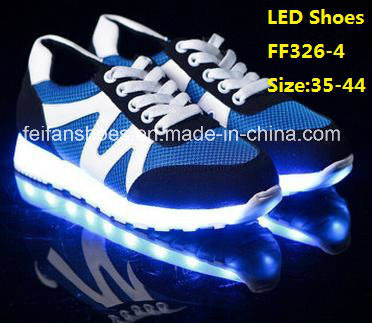 Latest Men Flash Luminous Light LED Shoes Leisure Sport Shoes (FF326-4)
