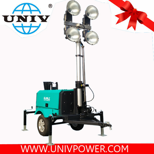 china 4x1000w metal halide mobile diesel generator light