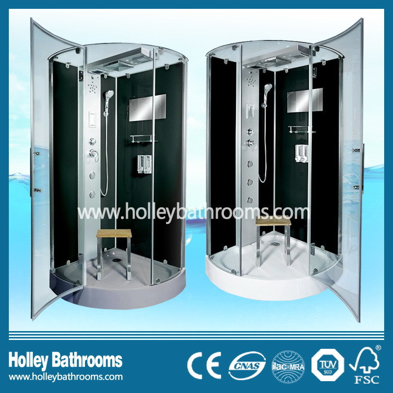 New Design Shower Room with Hinge Double Roller Wheel Sliding Door (SR216B)