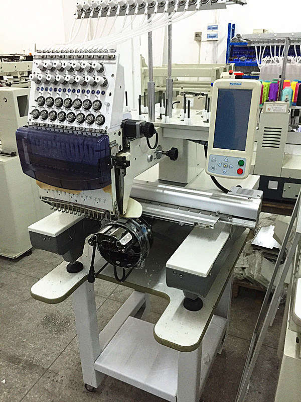 Single Head Cap Embroidery Machine Used Schiffli Embroidery