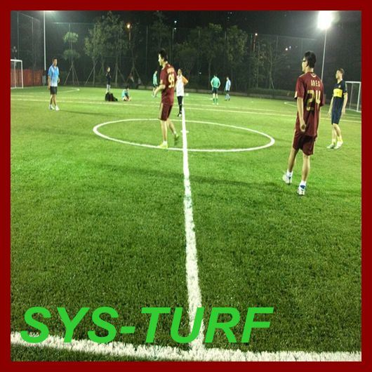 Football Soccer Monofilament Spine Shape Artificial Grass Lawn