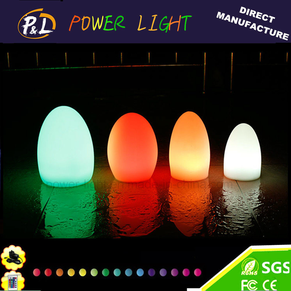 Color Changeable Illuminated Plastic LED Egg Lamp