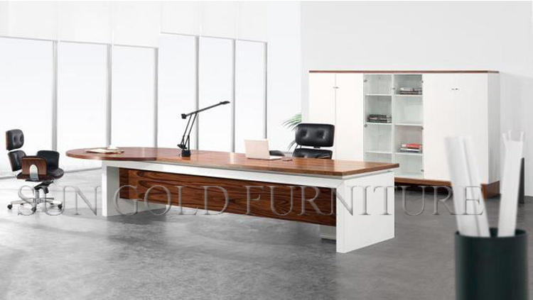 Latest Office Design of Wooden Computer Table Morden Excutive Office Desk (SZ-ODL338)
