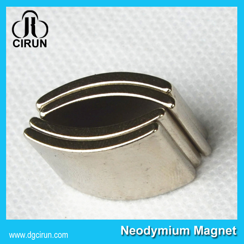 Customized Arc Shape Neodymium Motor Magnets N50