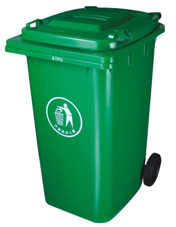 240L Injection Plastic Green Bin