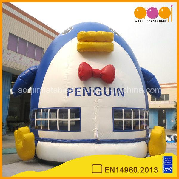 Lovely Inflatable Penguin Moonwalk Bouncer for Sale (AQ03105)