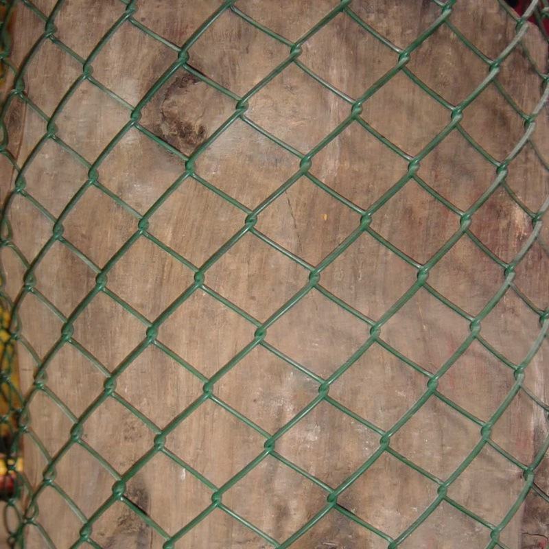 Garden Galvanized &PVC Coated Chain Link Fence Fabric