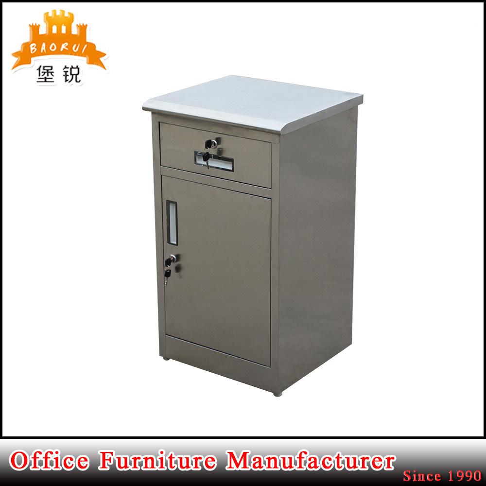 Jas-A109 Morden Design Stainless Steel Multi-Function Hospital Bedside Cabinet