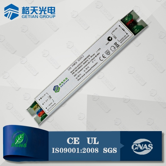 5 Years Warranty 60W Dimmable LED Driver 30-42VDC 1500mA 0-10V Dimmable Driver
