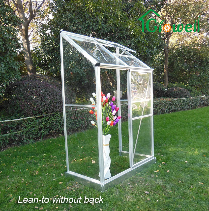 Wall-in Greenhouse Clear Panel Sliding Door