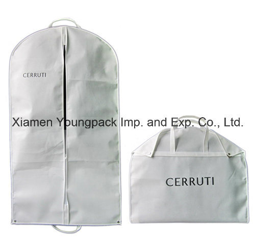 Personalized Custom Printed White Non-Woven Fabric Travel Suit Garment Cover Bag