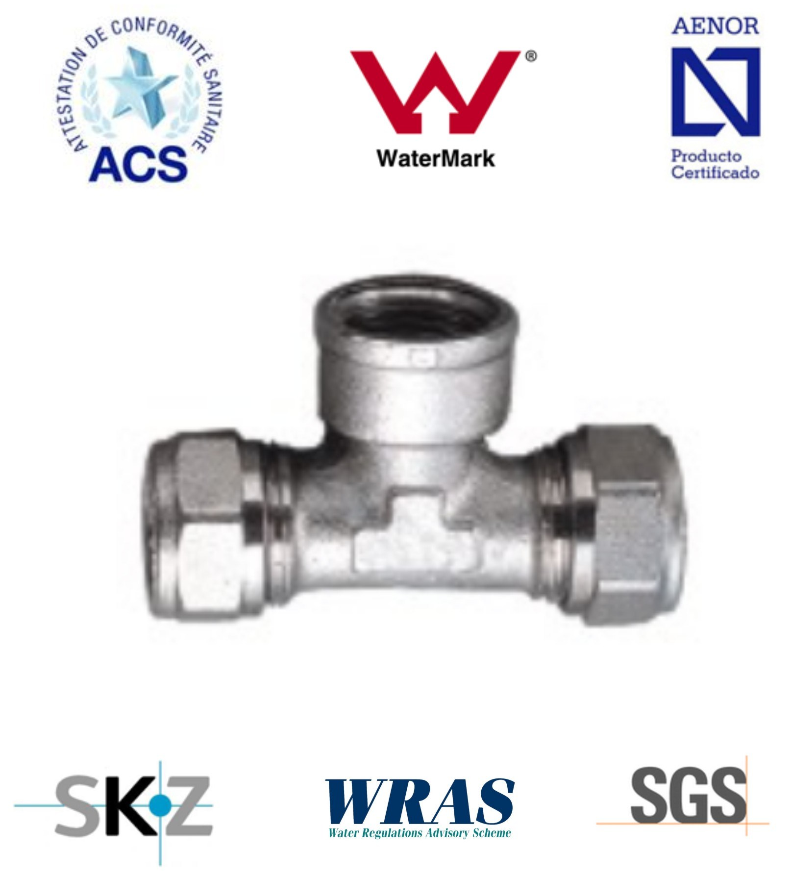 Compression Fitting - Brass Fitting - Plumbing Fitting (Female Tee)